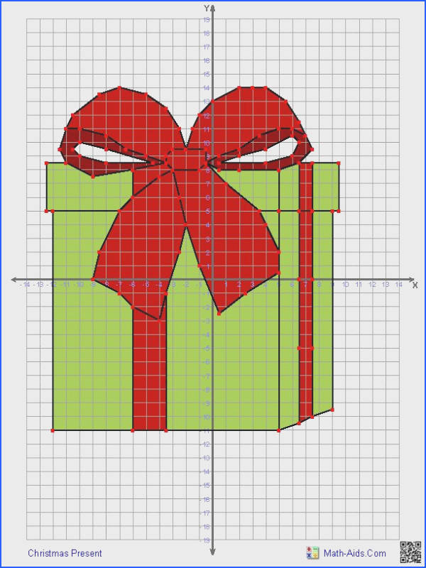 grid drawn Christmas Present