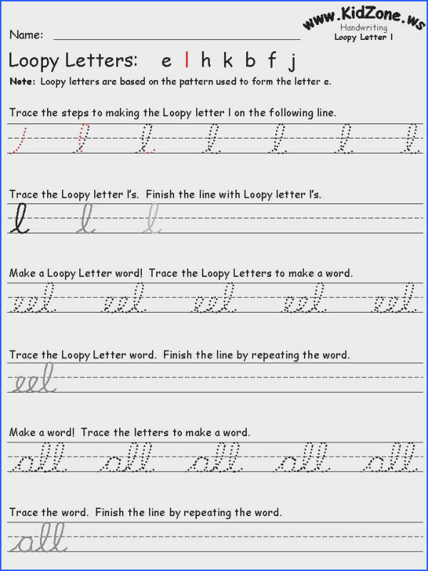 Free resource for cursive practice SWEET includes all the letters