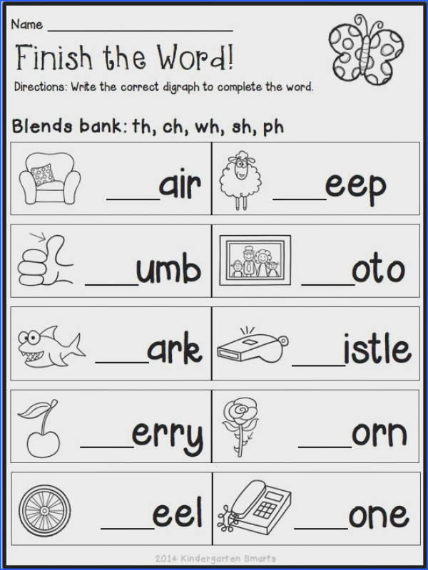 Quick and Easy Printable Digraph Worksheet