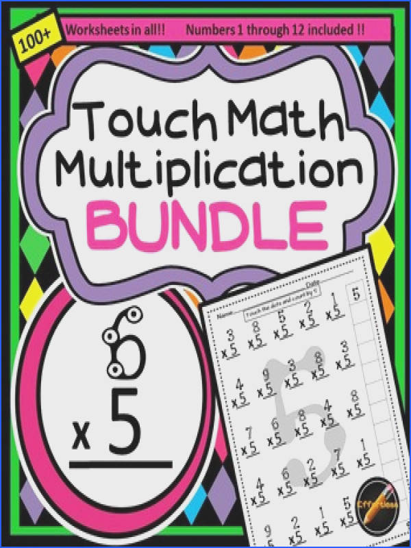 100 Multiplication Worksheets Using touch Math and Skip Counting Image Below touch Math Worksheets