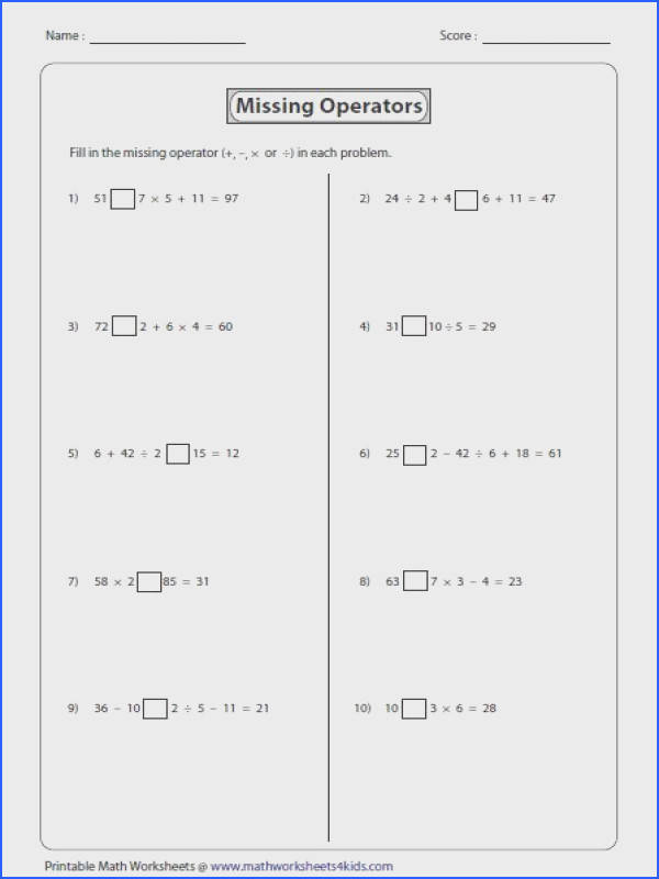 Order of operations worksheets includes four operators braces nested parentheses and exponents Use PEMDAS BEDMAS or BODMAS rules to solve the problems