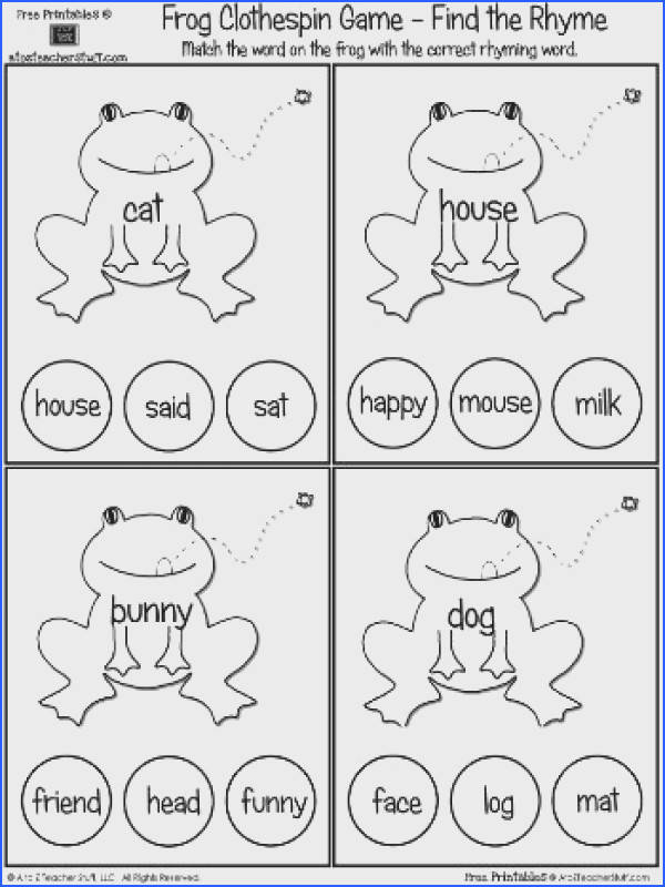 Rhyming activities for children who are learning to read