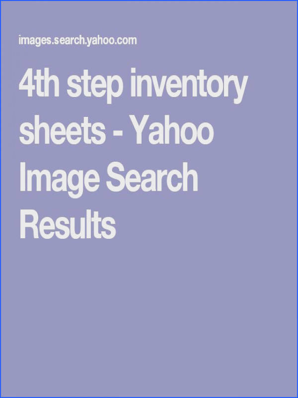 4th step inventory sheets Yahoo Image Search Results