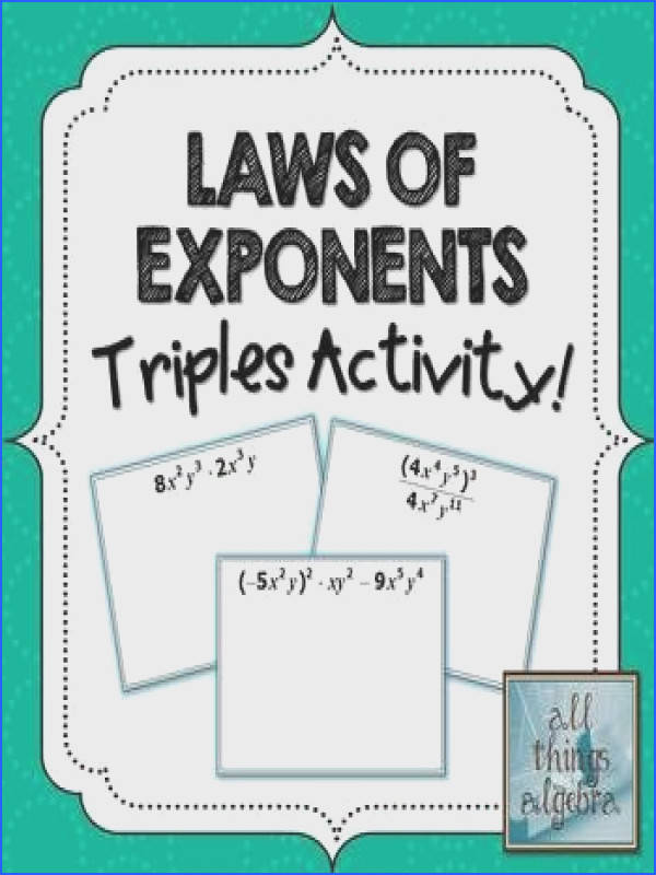 "Laws of Exponents ""Triples"""