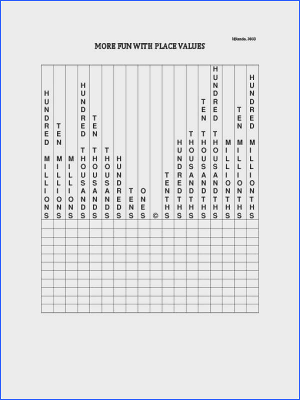 TeacherLingo $1 00 handy worksheet for students to practice place value with real numbers