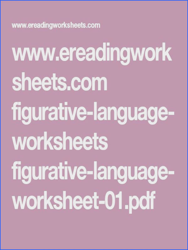 figurative language worksheets figurative language worksheet