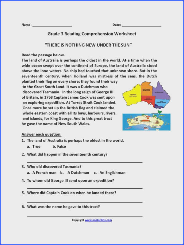 Nothing New Under Sun Third Grade Reading Worksheets