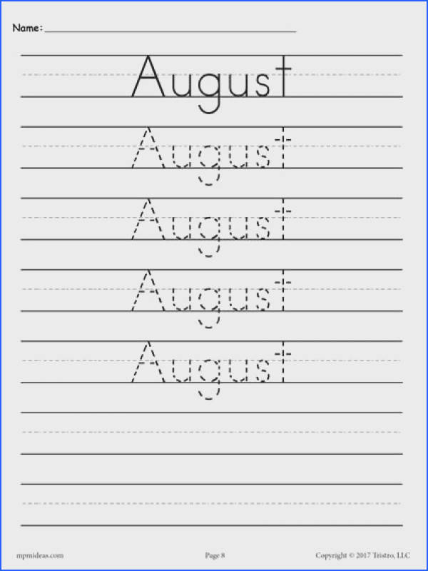 FREE printable months of the year handwriting worksheets These tracing worksheets are perfect for preschool