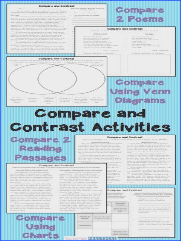 pare and Contrast Activities Unit paring Informational Texts and Stories