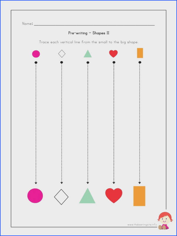 The Learning Site Pre writing Worksheets Shapes