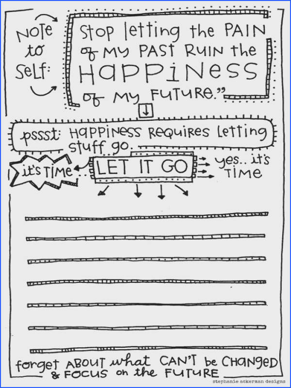 """Long story short happiness requires letting things go "" FREE printable · Cbt WorksheetsCounseling"