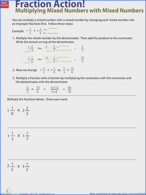 How to Multiply Mixed Numbers by Mixed Numbers