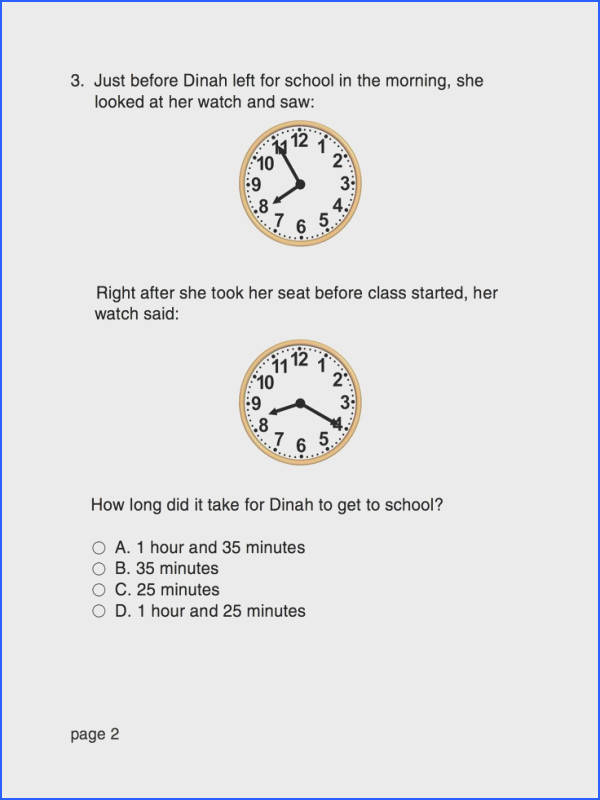 Show off you time telling skills and ment with your answer