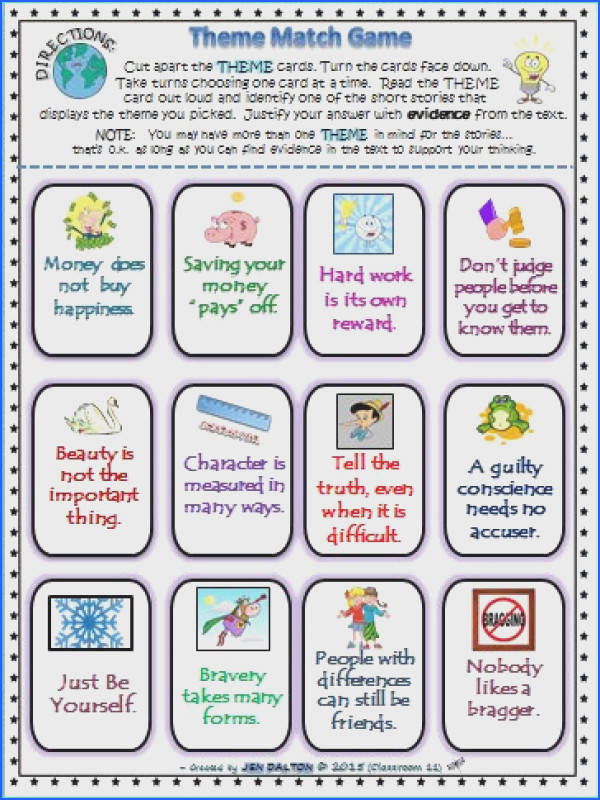 Finding & Teaching THEME Task Cards & More DIFFERENTIATED