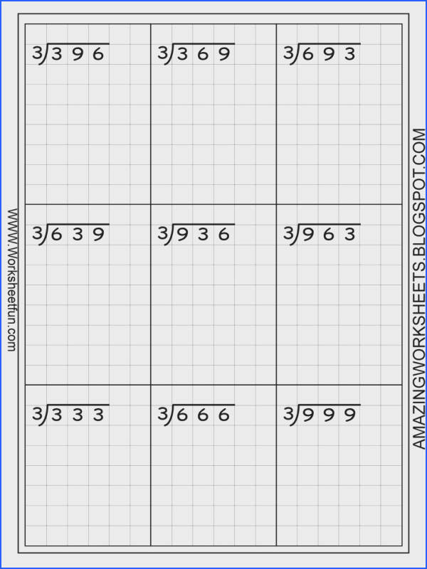 Long Division – 3 Digits By 1 Digit – Without Remainders – 20 Worksheets FREE Printable Worksheets