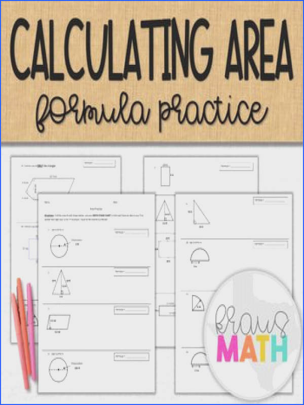 This practice worksheet has students write the formula for each each shape and solve for