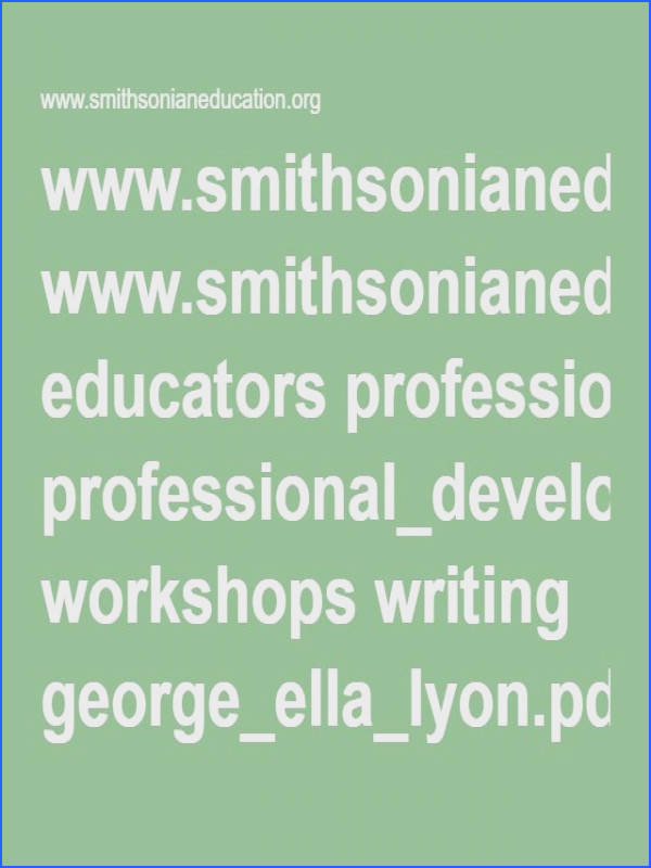 educators professional development workshops writing george ella lyon pdf