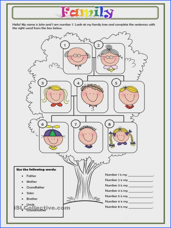 FAMILY vocab family tree worksheet activity Free ESL printable worksheets made by teachers