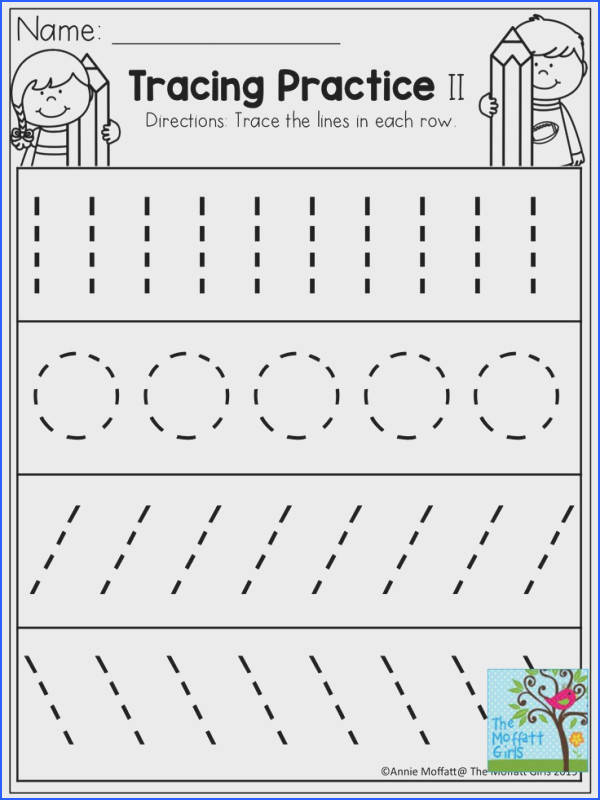 Tracing Practice TONS of printable for Pre K Kindergarten 1st Grade