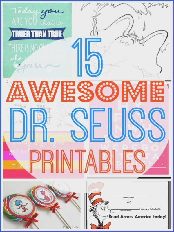 15 Awesome Free Dr Seuss Printables Image Below Dr Seuss Worksheets