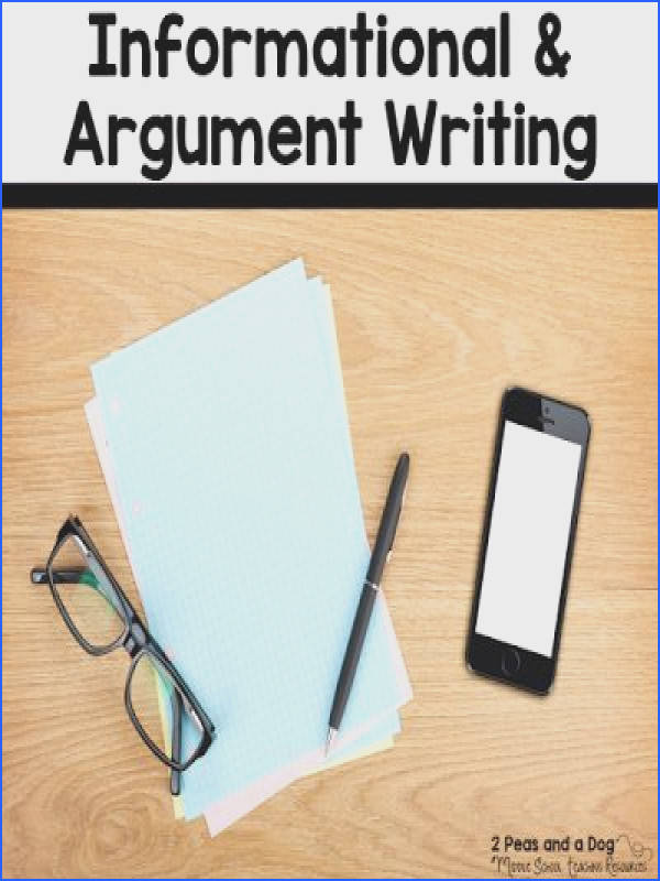 Ideas For Teaching Informational and Argument Writing
