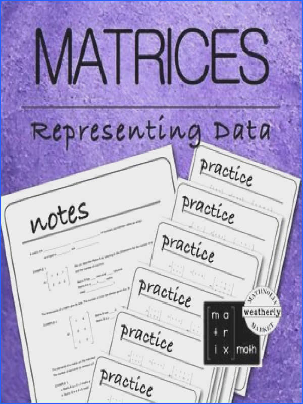 MATRICES Real World Applications