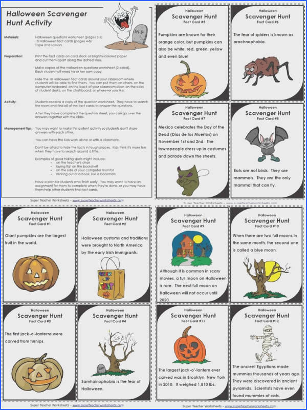 Super Teacher Worksheets has a large selection of printable worksheets to celebrate Halloween