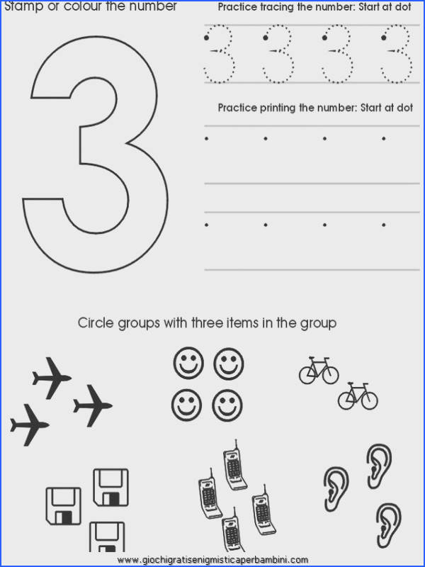 worksheets Preschool Number