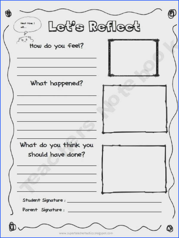 behaviour reflection sheet change should to could I think