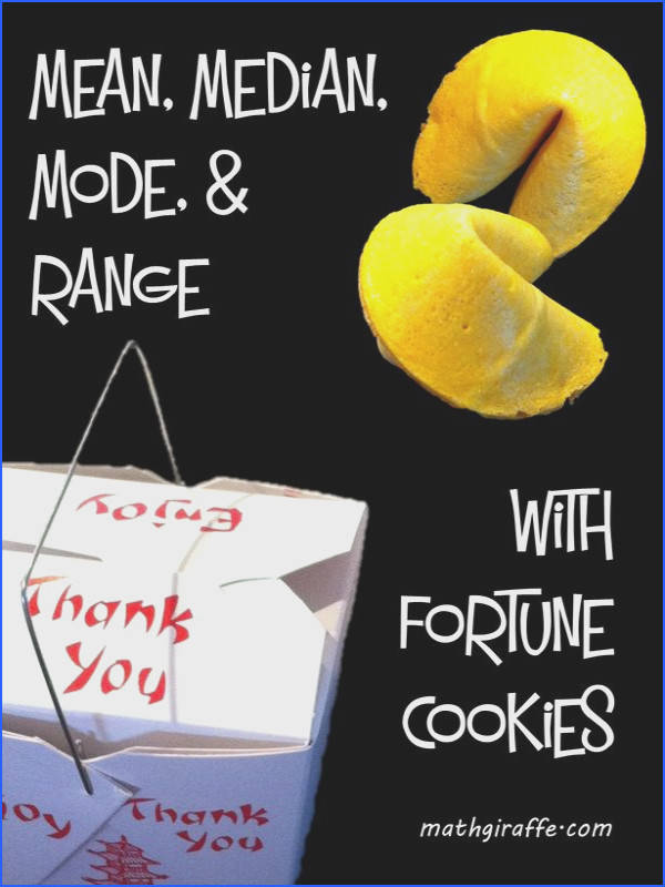 Blog post Mean Median Mode and Range with Fortune Cookies
