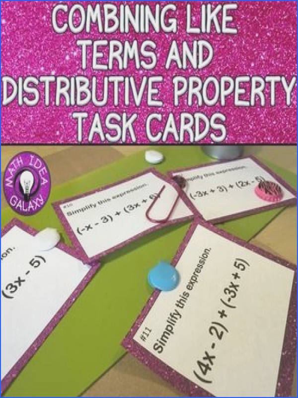 bining Like Terms Task Cards