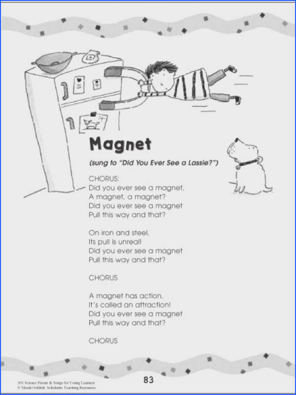 Magnet poem 101 Science Poems & Songs For Young Learners