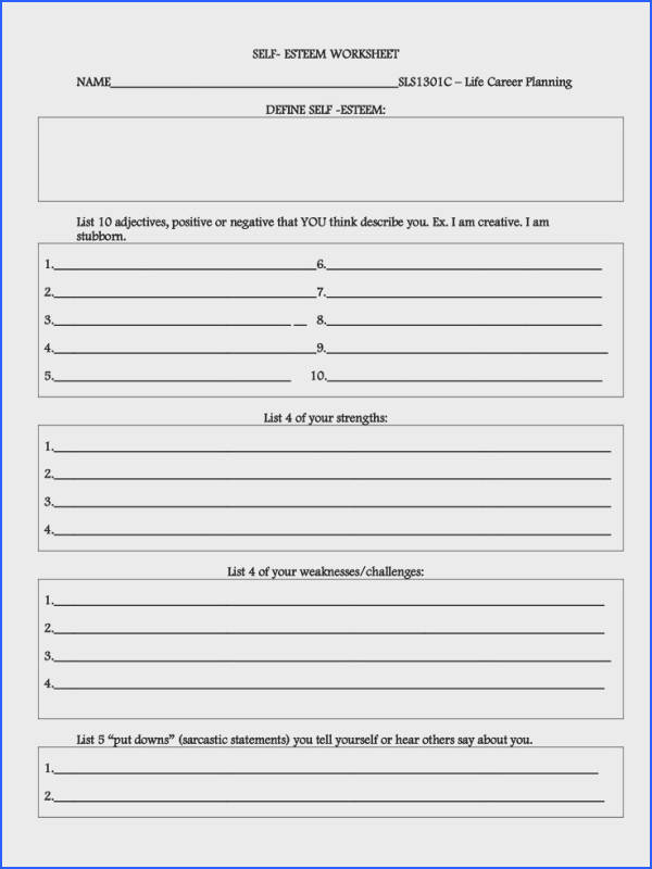 Self Esteem Worksheets Mychaume. I Feel It Is Mandatory To Add List Five Things Others Have Told You That 18 Best Group Therapy S On Pinterest From Self Esteem Worksheets. Worksheet. Low Self Esteem Worksheets At Clickcart.co