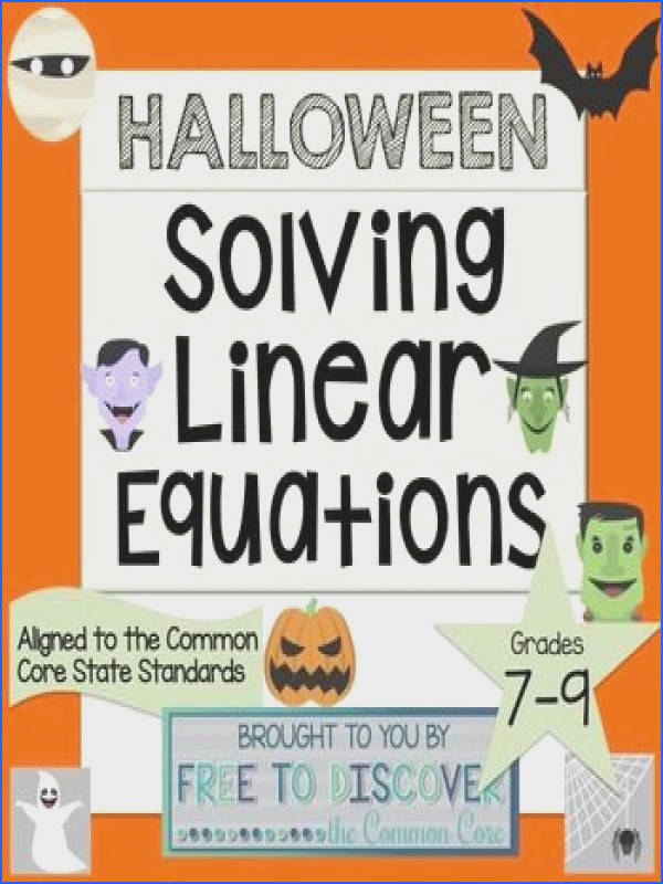 Halloween Math Activity Solving Linear Equations