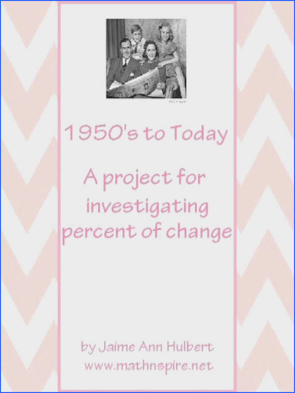 Math n spire 1950 s to Today Percent of Change Project