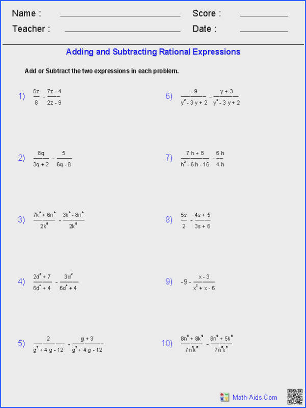 Graphing Rational Functions Worksheet Answers Awesome Multiplying and Dividing Rational Expressions Worksheet Algebra 2 Gallery