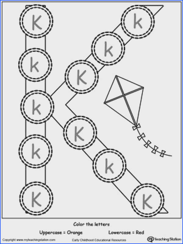 Recognize Uppercase and Lowercase Letter K