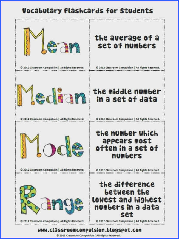 Mean Mode Median and Range Worksheet Answers Fresh 16 Best Math Mean Median & Mode