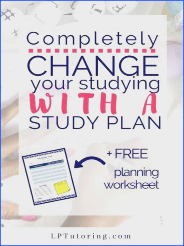 pletely Change Your Studying with a Study Plan FREE Study Plan worksheet