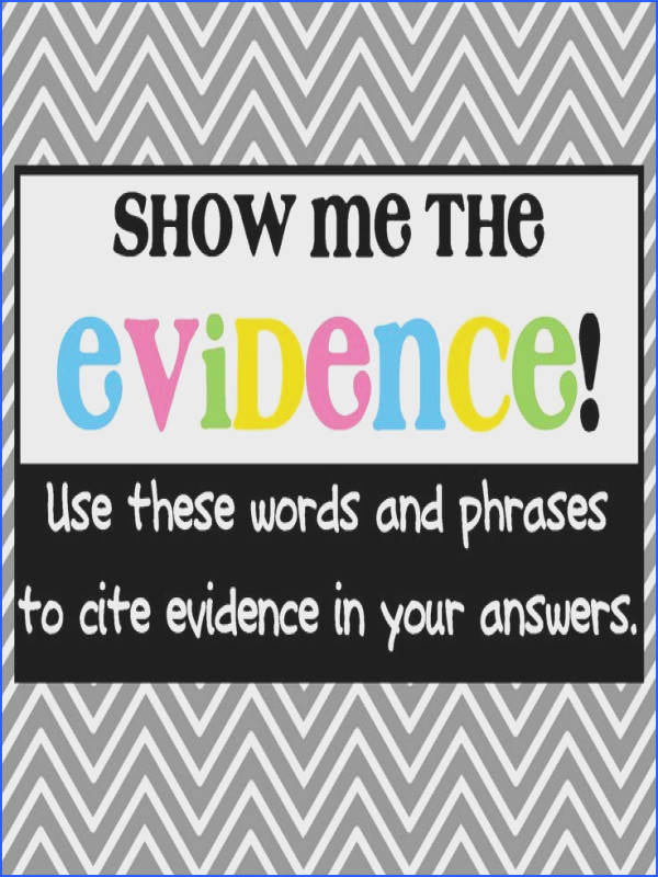 Words and phrases to helps kids cite evidence and elaborate in their responses