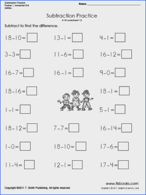 1St Grade Subtraction Practice Worksheets for all Download and Worksheets