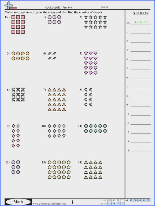 Multiplication Arrays Worksheets | Mychaume.com