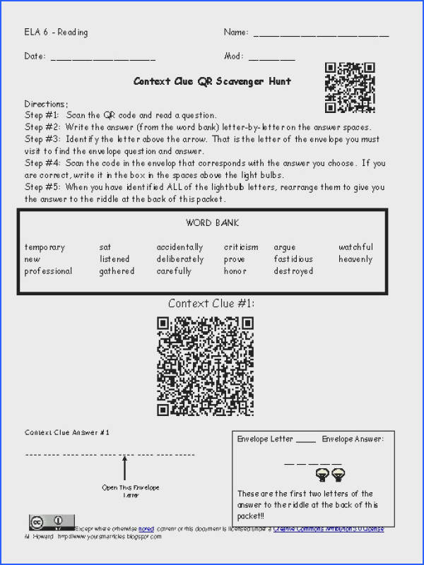 Classification Matter Worksheet with Answers New Context Clues Questions Worksheets for All 20