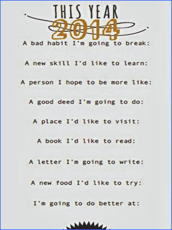 2014 Goals Worksheet Start the year off right