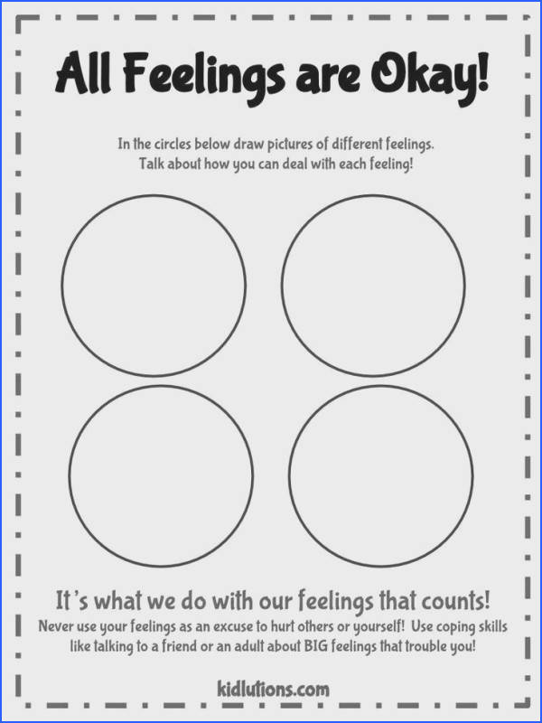 """Spin Doctor Parenting"" All Feelings are Okay Printable Activity"