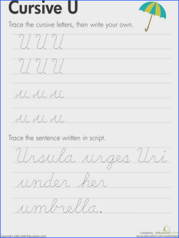 Slideshow Cursive Handwriting Practice Worksheets A Z