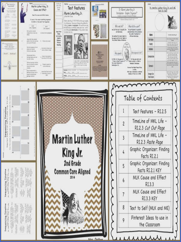 Dr Martin Luther King Jr Literacy Unit for MLK Day Text FeaturesMartin