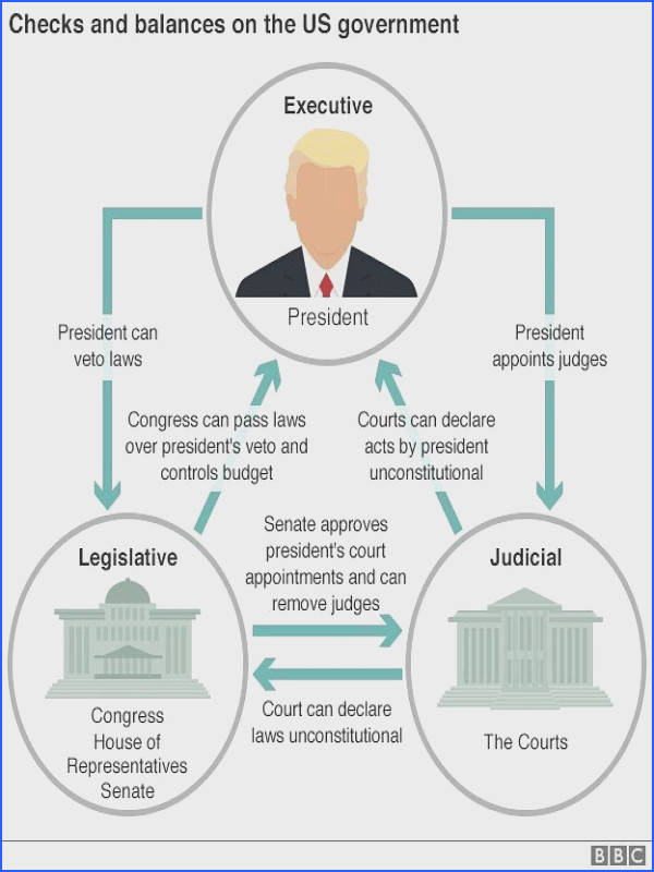 "Graphic showing checks and balances on US government ""Courts are so political"" NO it s called Checks and Balances to prevent self righteous leaders from"