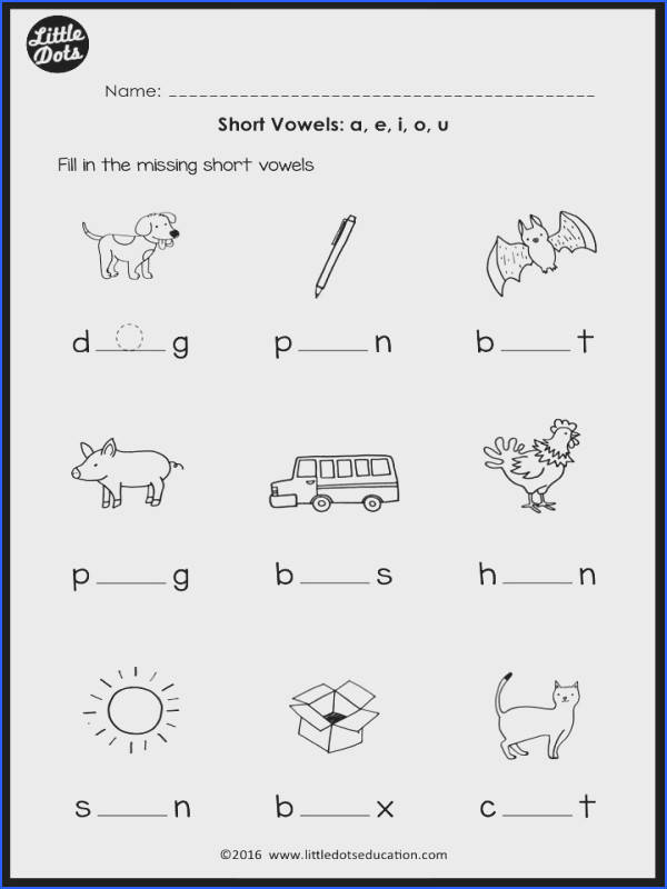 Download worksheets and activities on short vowels a e i o u