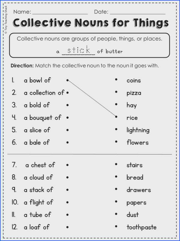 FREE collective noun worksheet